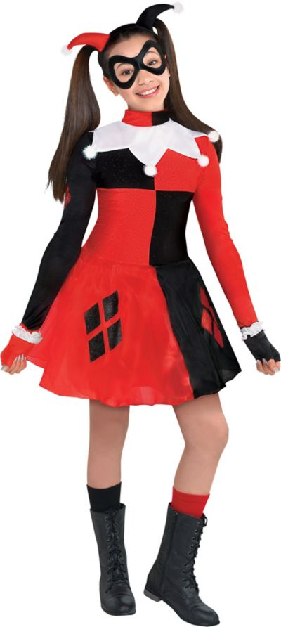 girls harley quinn costume batman party city