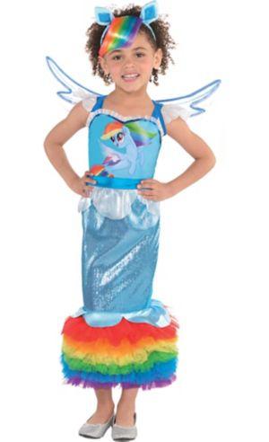 Little Girls Rainbow Dash Mermaid Costume - My Little Pony