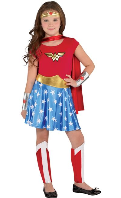 e1da31ffa Girls Wonder Woman Dress | Party City