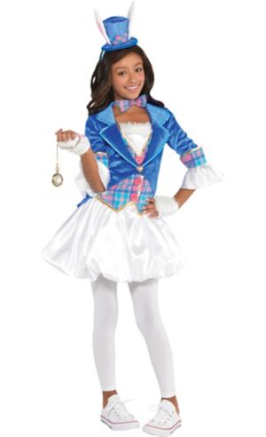 Girls White Rabbit Costume