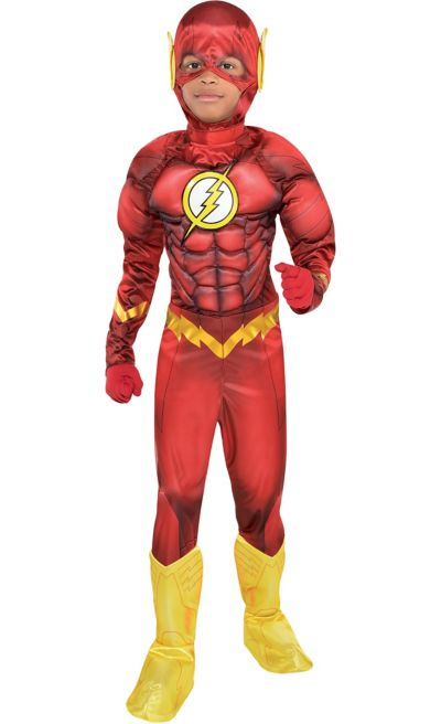 boys the flash muscle costume dc comics new 52 party city