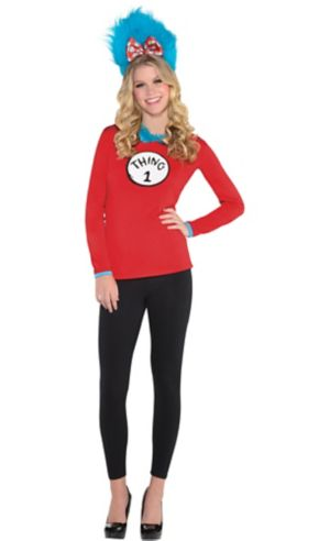 Adult Thing 1 & Thing 2 Long-Sleeve Costume - Dr. Seuss