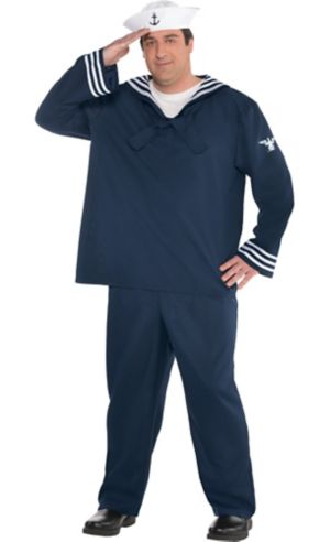 Adult Out to Sea Sailor Costume Plus Size