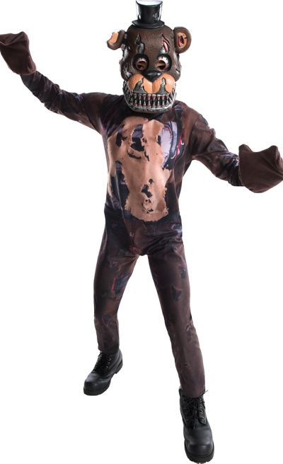 boys nightmare freddy fazbear costume five nights at freddys 4 party city