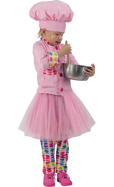 Girls Pink Chef Costume Party City