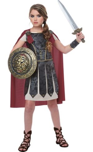 Girls Fearless Gladiator Costume