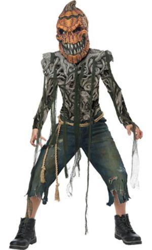 Boys Evil Pumpkin Creature Costume