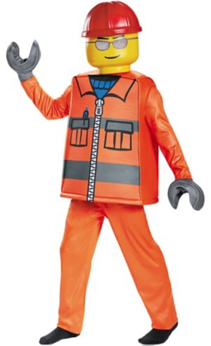 Boys Construction Worker Lego Costume