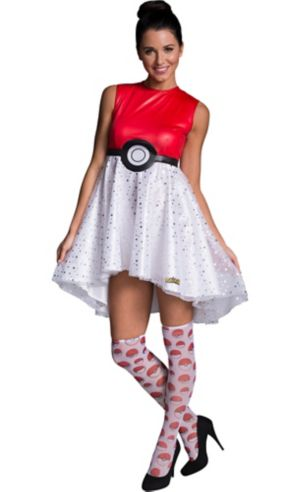 Adult Pokeball Dress Costume - Pokemon