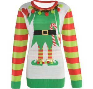 Adult Jolly Elf Ugly Christmas Sweater