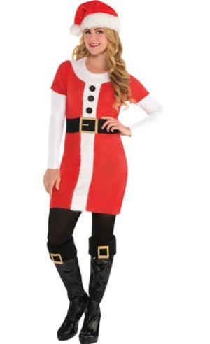Adult Santa Sweater Dress