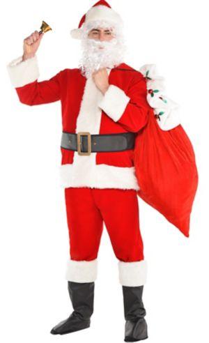 Adult Velvet Santa Suit Costume Kit