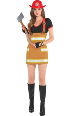 Not Girls wearing sexy firefighter shirts