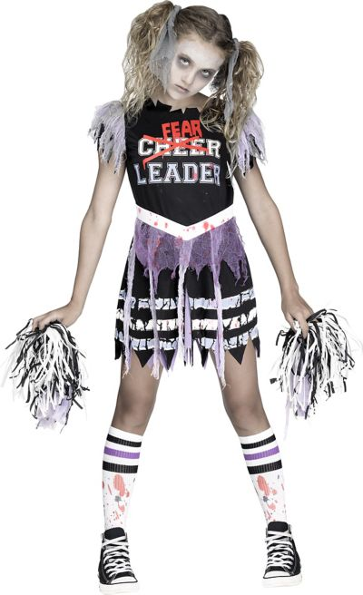 Halloween Costumes For Girls Scary.Girls Zombie Fearleader Costume