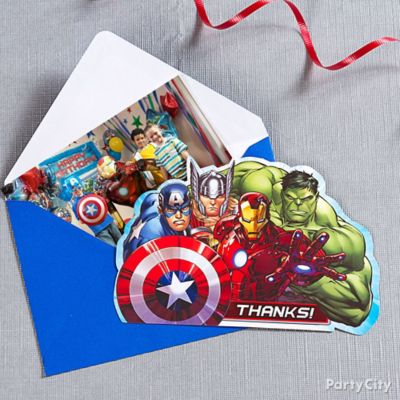 Avengers Thank You Note Idea