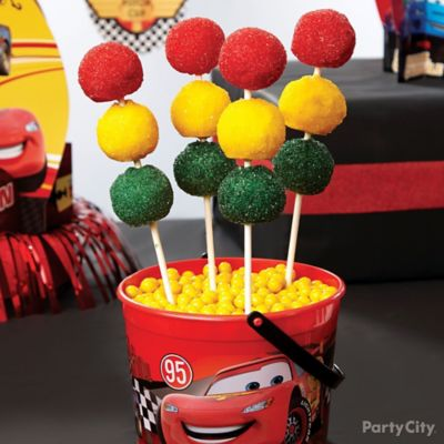Cars Stoplight Doughnut Pops How To