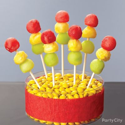 Cars Stoplight Fruit Kabobs How To