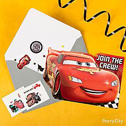 Cars Invite with Surprise Idea