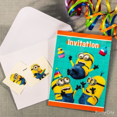 Despicable Me Invite with Surprise Idea