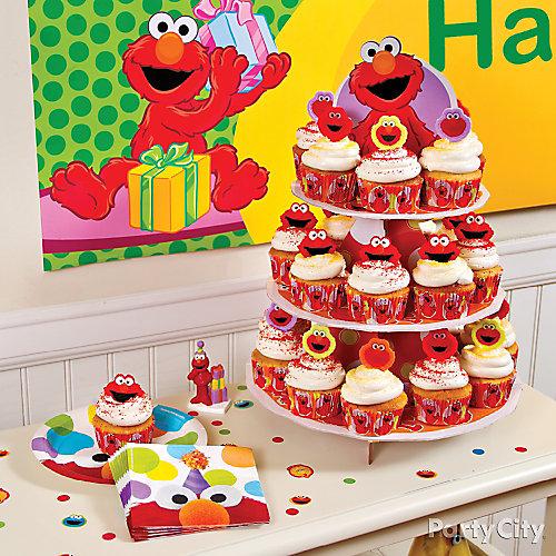 Elmo Cupcake Tower Idea