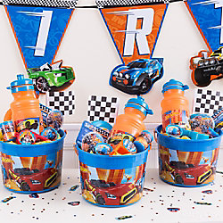 Hot Wheels Favor Bucket Idea