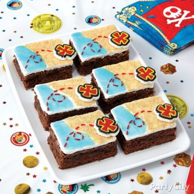 Jake and the Neverland Pirates Treasure Map Brownies How To