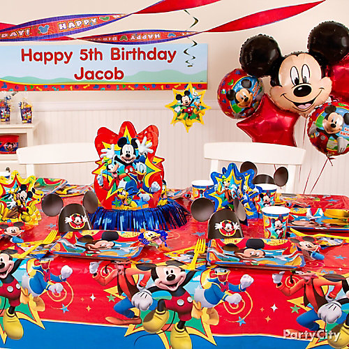 Mickey Mouse Party Table Idea - Party City
