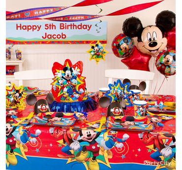 Mickey Mouse Party Table Idea  sc 1 st  Party City & Mickey Mouse Birthday Party Ideas - Party City | Party City