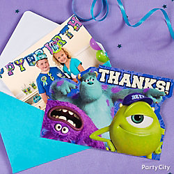 Monsters University Thank You Note Idea