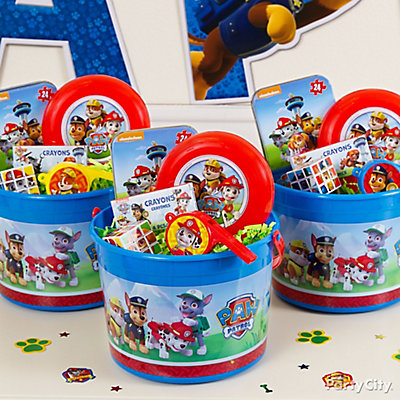 PAW Patrol Favor Bucket Idea