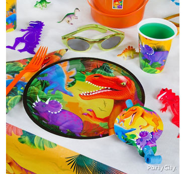 Prehistoric Dinosaur Place Setting Idea