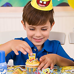 SpongeBob Cupcake Decorating Idea