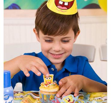 SpongeBob Cupcake Decorating Idea