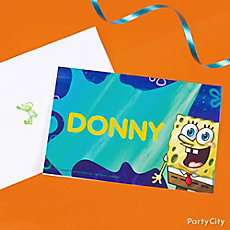 SpongeBob Thank You Note Idea