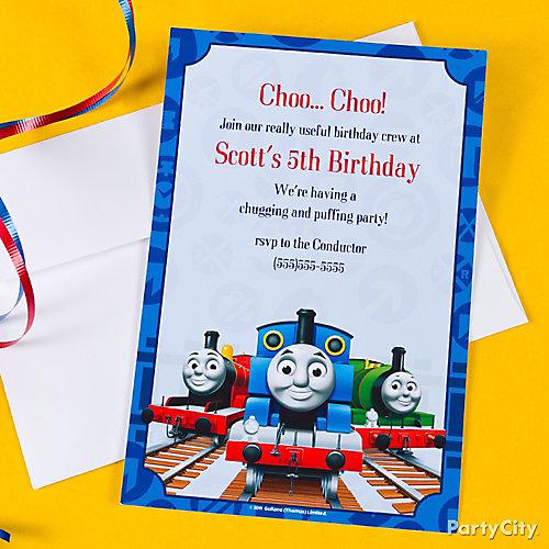 Thomas Custom Invite Idea