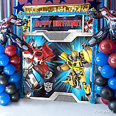 Transformers Party Table Idea Photo Booth DIY
