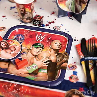 WWE Place Setting Idea