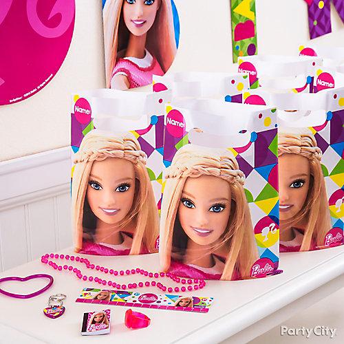 Barbie Favor Pack for 8 Idea