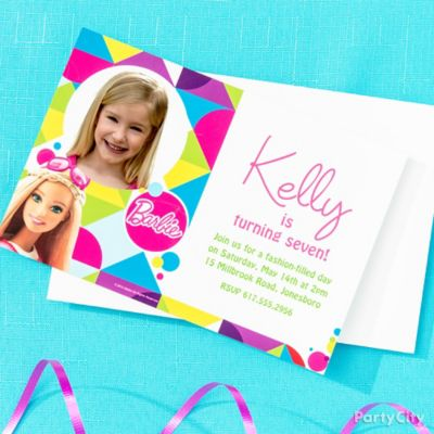 Barbie Custom Invite & Thank You Idea