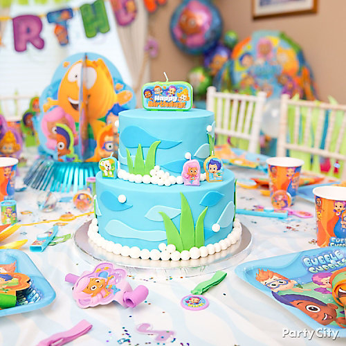 Bubble guppies cake how to party city - Bubble guppie birthday ideas ...