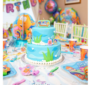Bubble Guppies Cake How To