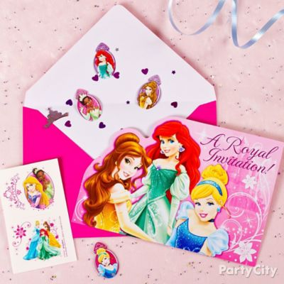 Disney Princess Invite with Surprise Idea