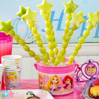 Disney Princess Fruit Wands Idea