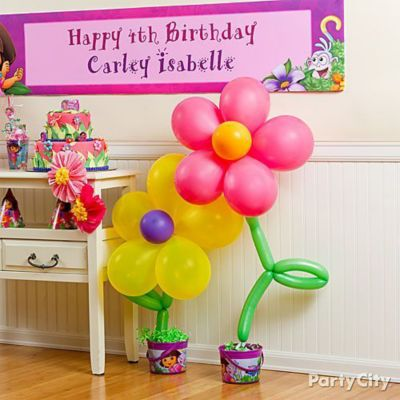 Dora Balloon Flower How To