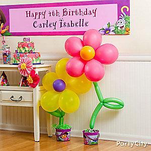 Dora Balloon Flower How To