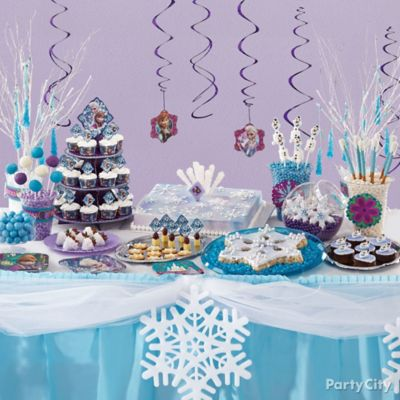 Frozen Treats Table Idea