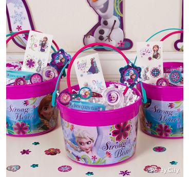 Frozen Favor Bucket Idea