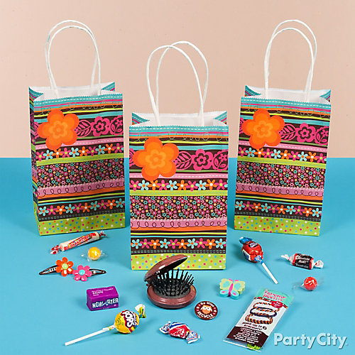 Hippie Chick Favor Bag Idea