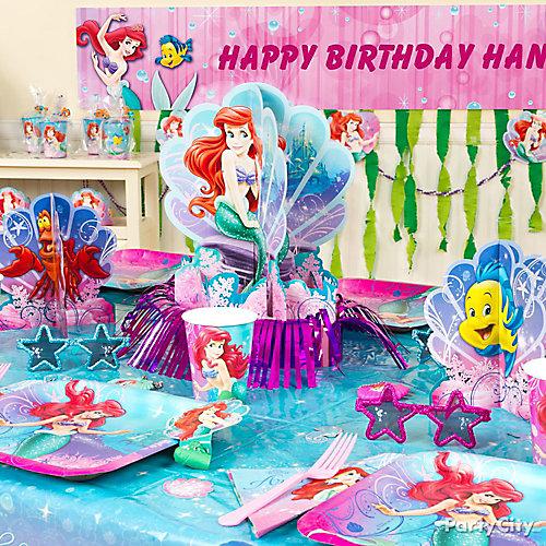 Little Mermaid Party Table Idea