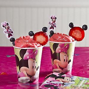Minnie Mouse Fruit Floats Idea
